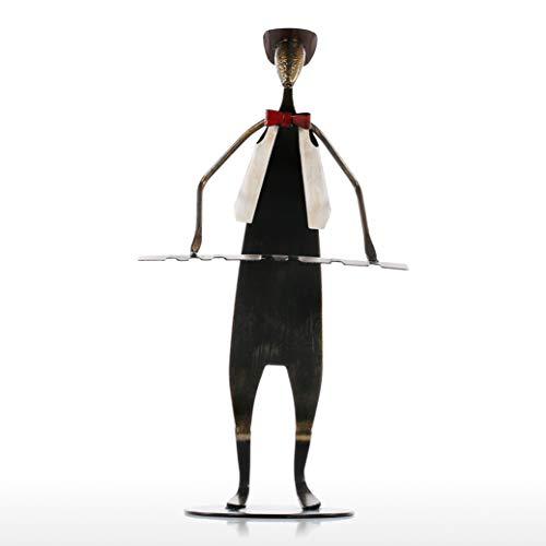 DOGOGO metaal ijzer sculptuur bakken verf Decor ambachten rock en roll stijl muziek band spelen