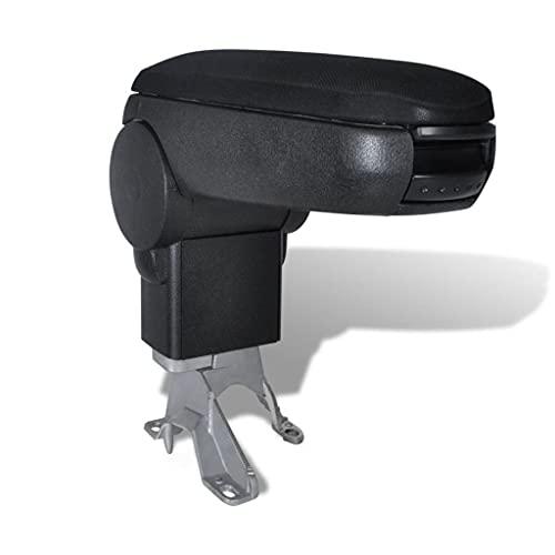 vidaXL Reposabrazos para Diferentes Modelos Coche ABS Negro Apoyabrazos
