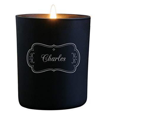 Kerze mit gravur - gravierte Duftkerze personalisiert mit Namen und Botschaft, Duft Vanille - 35 Stunden Brenndauer - Vorname - Geschenkidee zu Weihnachten, zum Geburtstag, Valentinstag