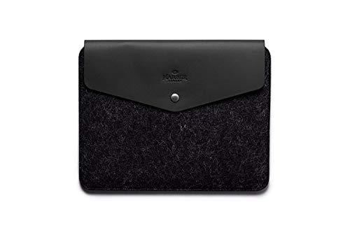 Leather Macbook Envelope Case Sleeve (MACBOOK 12, BLACK)