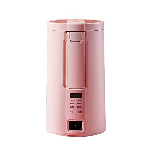 BMMMZ Elektrische Soymilk Maschine Mini heizbar Soja-Milch Entsafter Mixer Reispaste Maker Filter frei mit Dampfgarer (Color : Pink)