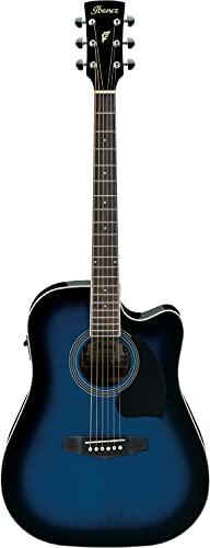 Ibanez PF15ECE-TBS Guitarra electroacústica, Transparente Blue Sunburst