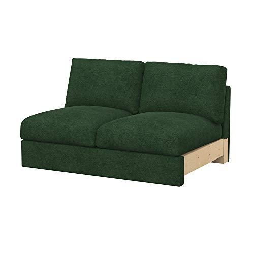 Soferia Funda de Repuesto para IKEA VIMLE módulos sofá de 2 plazas, Tela Strong Green, Verde