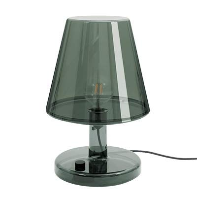 Fatboy® Trans-parents anthrazit | Retro Stehlampe / Tischlampe, Leselampe | dimmbar | 32 x 32 x 50 cm
