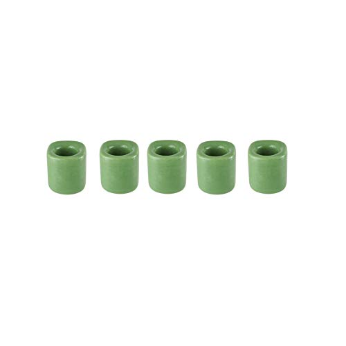 Mega Candles 5 pcs Light Green Ceramic Chime Ritual Spell Candle Holders, Great for Casting Chimes, Rituals, Spells, Vigil, Witchcraft, Wiccan Supplies & More