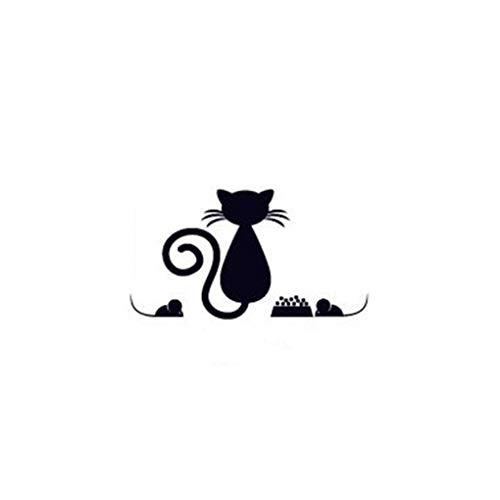 Guangcailun Interruptor del Gato Pegatinas Gato Negro Pegatinas de Pared extraíble de PVC de Pared decoración del Dormitorio de la Sala