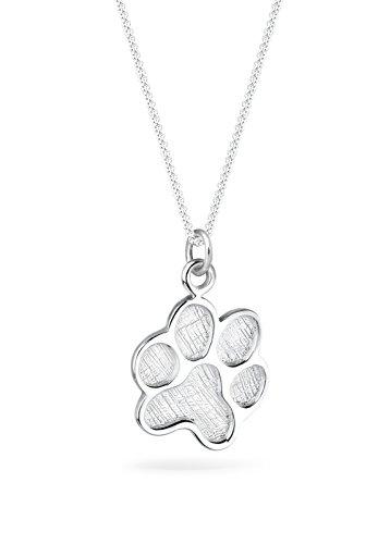 Elli Collares el perro símbolo de la pata de la mujer en plata esterlina 925