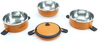 Fiambrera Bento de 3 bandejas inoxidable, Termo inox de Comida Caliente o Fría, almuerzo para trabajo o merienda para bebe