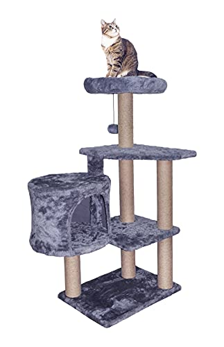TINWEIUS 01A Cat Tree Scratching Toy Activity Centre Cat Tower Furniture Scratching Post