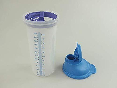 Tupperware® Shake-It 600ml BLAU Mixbecher Messbecher Mix-Fix Shaky D2213 Schüttel-Becher