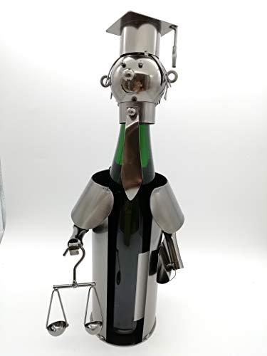 Flaschenhalter Jurist Metall Flaschenständer Weinflaschenhalter Metallständer Anwalt
