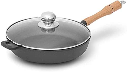 Wok Padella Antiaderente Maniglia In Legno Padella, Padella Antiaderente In Ghisa, Padella Per La Colazione Non Patinata Pancake Pan