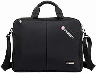 شنطة من سويسجير ضد الماء لأجهزة Asus ROG Zephyrus and Lenovo ThinkPad 15.6 inch Laptop حقيبة كروس من سويس جير - أسود