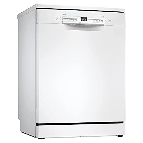 Bosch SGS2HVW66G Serie 2 Freestanding Dishwasher, ExtraDry, Glass Protection, VarioDrawer, DosageAssist and Load Sensor, 13 place settings, 60cm wide - White
