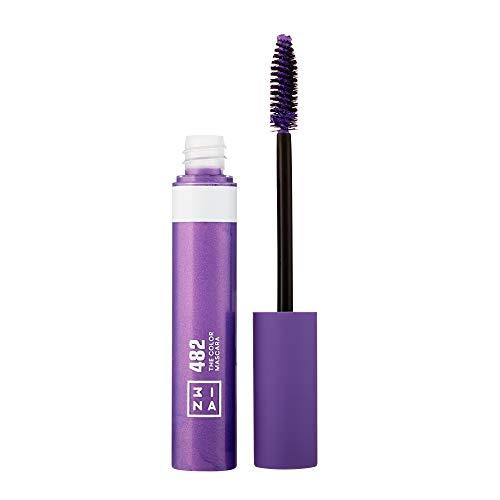 3INA Makeup - Vegan - Cruelty Free - The Color Mascara 482 - Bunter Mascara für Volumen und Länge - Bunte Wimperntusche - Hochpigmentiert - Langhaltende und Wasserfest - Lila
