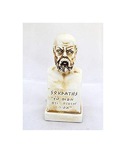 Estia Creations Socrates Small Bust - As for me, All I Know is That I Know Nothing