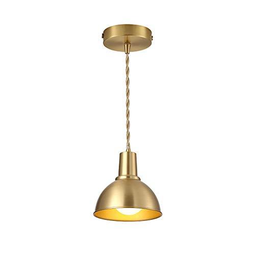 SDFDSSR Lámpara Colgante Moderna Y Simple E27 De Cobre Dorado, Lámpara Colgante De Cuerno, Lámpara Colgante Ajustable, Adecuada para Isla De Cocina, Dormitorio, Comedor (Altura 17 Cm)