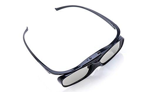 2x Hi-SHOCK RF Pro Black Heaven   aktive 3D Brille für EPSON, JVC & SONY RF 3D Beamer   komp mit. TDGBT500A [120 Hz   RF   akku  32g ]