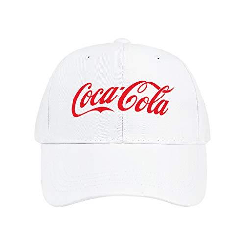 Depaga Mens Womens Hip Hop Dad-Cocacola-Baseball Cap Professional Hat Hiking Adjustable White