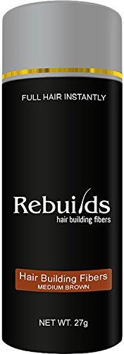 Rebuilds Hair Building Fiber - Medium Brown, 27 Grams