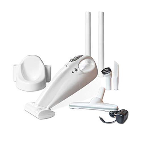 Aspiradora Recargable Portátil, Aspiradora Manual, Mini LED Que Enciende La Batería Inalámbrica del Vacío 2000Mah con El Filtro HEPA para El Uso Sostenible En Hogares Y Coches,White