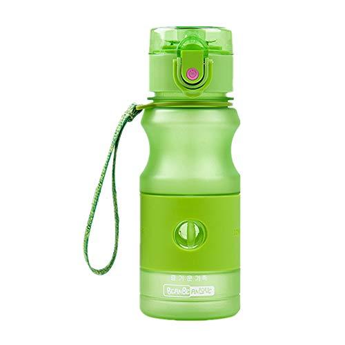 Botella Agua Gimnasio Botella Agua Deporte Deportes Botellas de Bebidas Frasco de Agua Botellas de Bebida para Adultos Corriendo Botella Green,420ml