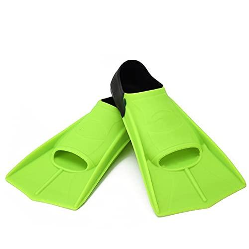 Aletas Naineras Ajustables Cuerdas de Snorkel Snorkel Fleetas de Buceo Aletas de Buceo Equipo Deportivo de Agua para Principiantes Portátiles de Buceo portátil (Color : Green, Size : L)
