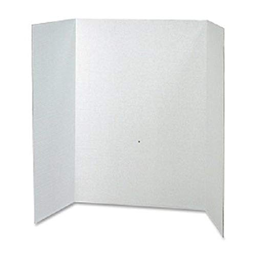 RiteCo 22128 Tri-fold Display/Presentation Boards, 40'x28', White, (Pack of 30)