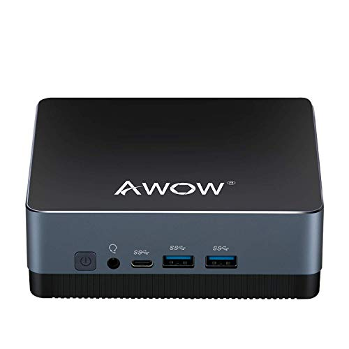Mini PC Core i5 8GB RAM, AWOW NYi5 Desktop Computer Intel Core i5-5257u (up to 3.1GHz) Windows 10 Pro 256GB M.2 SSD, Dual Display 4K@30Hz, SATA 3, USB3.0, Gigabit Ethernet, HDMI1.4, BT4.2, Type-C