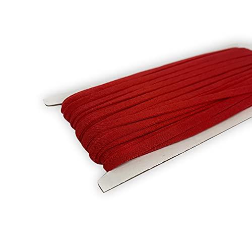 Red Elastic String for Masks 20 Yards Elastic Bands for Sewing 1/4 inch Elastic Cord for Masks 5mm Elastic Stretchy Ear Tie Rope Handmade Elastic for Masks Making Mask DIY (Red)