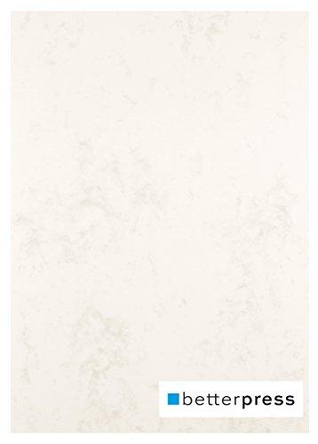 Betterpress® 50 Blatt Marmorpapier beige 200g, A4 – Beidseitig Marmorierter Karton in hochwertiger Qualität – Premium Marmorkarton chamois ideal als Speisekarte, Zertifikat und Urkunde