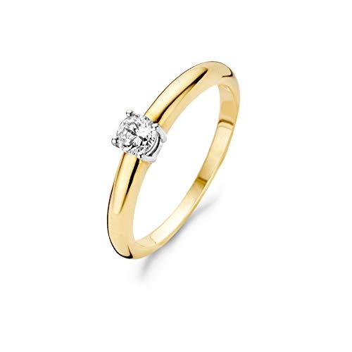 Blush 14 Karaat Witgouden/Gouden Ring 1067BZI/52 (Maat: 52)