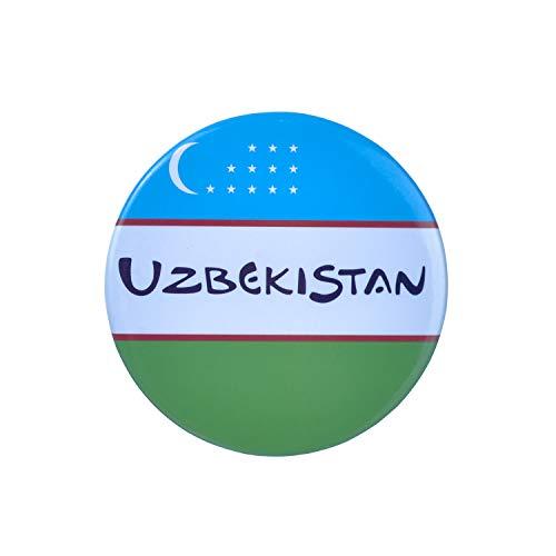 Magnet Flaschenöffner, Usbekistan-Flagge, Metall, Souvenir, Usbekistan Geschenke