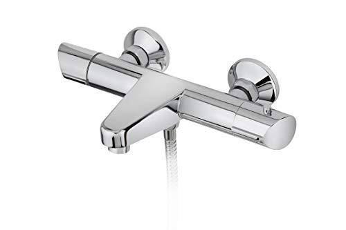 Strohm TEKA - Grifo de bañera SINEU. Termostático de baño/ducha con SafeTouch, y anti-quemaduras.