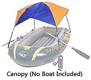 sevend plegable toldo para hinchable barco (3 personas); sol refugio tienda de pesca (barco No Incluidas);