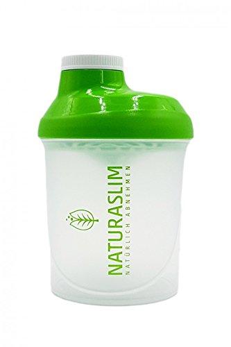 Naturaslim Shaker per proteine senza BPA, facile da pulire, 300 ml, verde