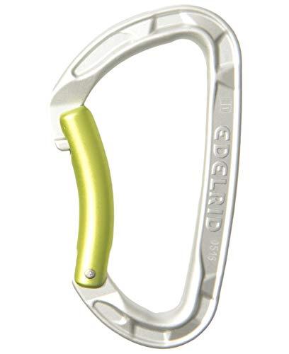 Edelrid Unisex– Erwachsene Karabiner Pure Bent, Silver, einheitlich