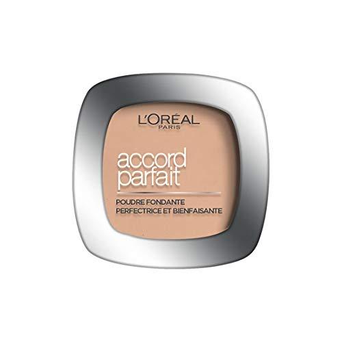 L'Oréal Paris - Poudre Fondante Accord Parfait - Peaux Normales à Mixtes - Teinte : Vanille Rosé (2.R) - 9 g