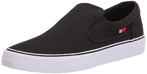 DC Men's Trase Slip-ON TX Skate Shoe, Black/White, 7.5