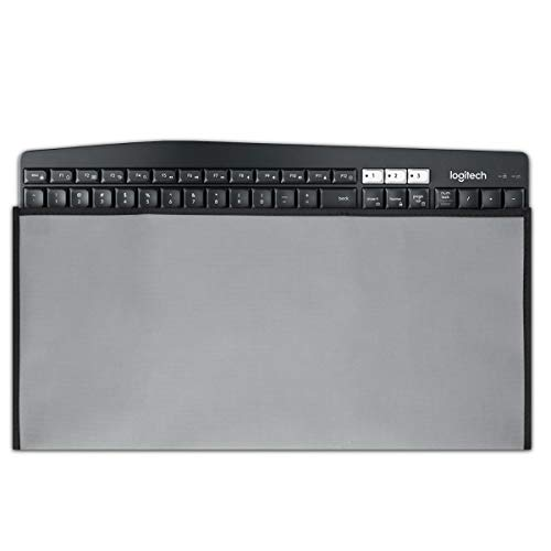 kwmobile Hülle kompatibel mit Universal Keyboard - PC Tastatur Schutzhülle - Keyboard Staub Cover Case - Hellgrau