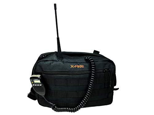 X-FIRE 2021 MOLLE Chest Pack Pouch Tool Bag Kit with Dual Radio Pockets and Antenna Ports, Zippered Organizer Pockets, Internal EDC Utility Slots for IFAK EMT/EMS Medical Supplies or Concealed Carry.