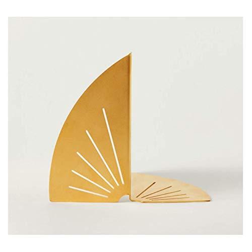 FHKBK Extremos de Libros Extremos de Libros Metal, Sujetalibros en Forma de Abanico, Sujetalibros de Acero Inoxidable, Sujetalibros pequeño y Lindo Decoración Creativa Extremos de Libros
