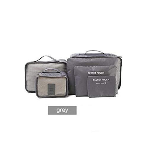 6 unids/set bolsa de almacenamiento de viaje equipaje maleta bolsa para sujetador cosméticos ropa interior divisor de ropa contenedor organizador ordenado