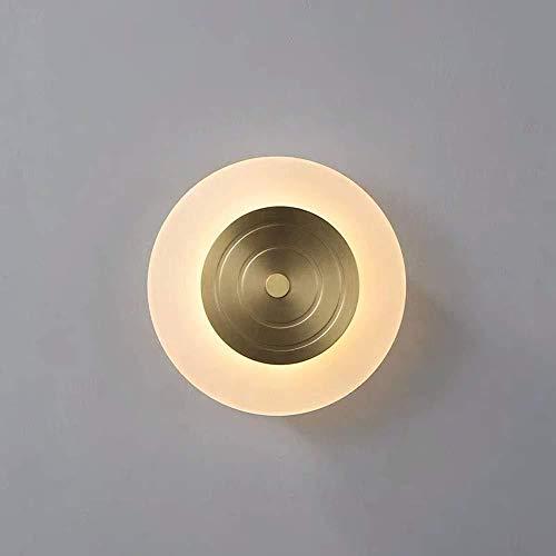 lámpara de pared Pared de la luz Luz moderna sala de estar minimalista dormitorio Den creativo diseñador de la lámpara LED de pared de acrílico de la rueda 17 * 17 * 4cm cubierta iluminación