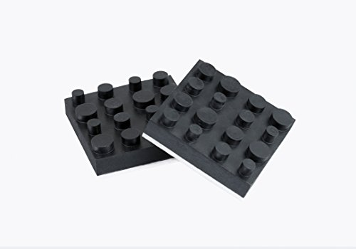 Dynavox Antivibe Geräte-und Boxenfüsse Gummi, quadr. 40 x 40 mm, 4er Set