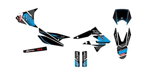 Kit Deco Motocross Derbi Senda X-Treme 50 Comics Azul 2010-2017