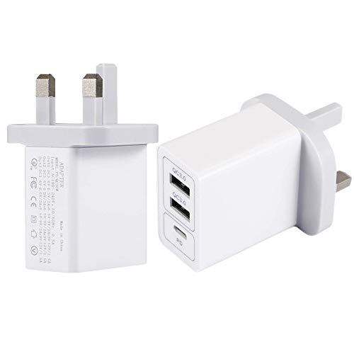30W USB C PD Fast Charger Compatible for iPhone iPad, Smart USB 3.0 Interface IC Fast Charging Adapter Compatible with iPhone SE 2020/12/12 mini/12 pro/11/11 Pro/XR/XS/X, iPad Pro Air Min