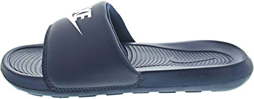 Nike VICTORI One Slide, Scarpe da Ginnastica Uomo, Midnight Navy/White-Midnight Navy, 42.5 EU