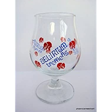 Delirium Tremens Pink Elephant Tulip Beer Glass Huyghe Brewery 0,25 L by Delirium tremens .25L