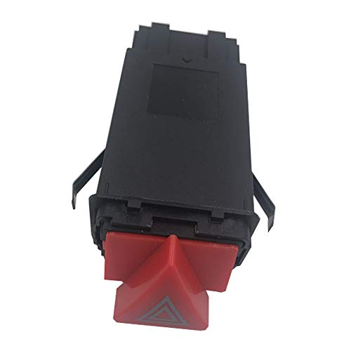 KUANGQIANWEI Botonera elevalunas Peligro de Emergencia Advertencia Light Flasher Switch Botón de relevo Fit para Audi A6 S6 RS6 C5 ALLROADER Quattro 4B0941509C 9PIN